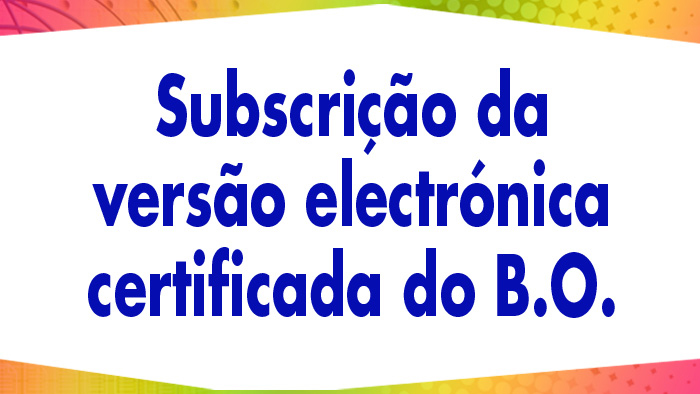 Subscription certified electronic version of the BO